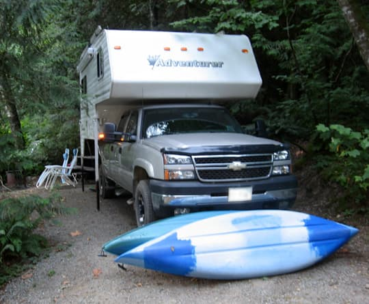 Boondocking Kayaks camping