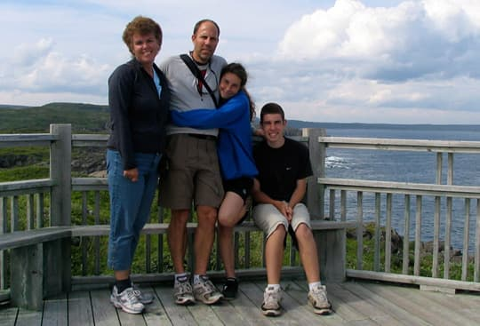 Boondocking Newfoundland family picture