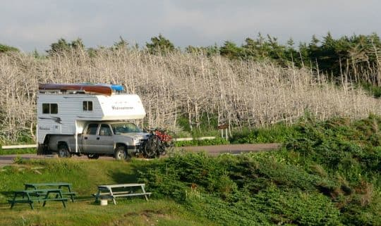 Boondocking-Bicycles-on-Rig-Newfoundland