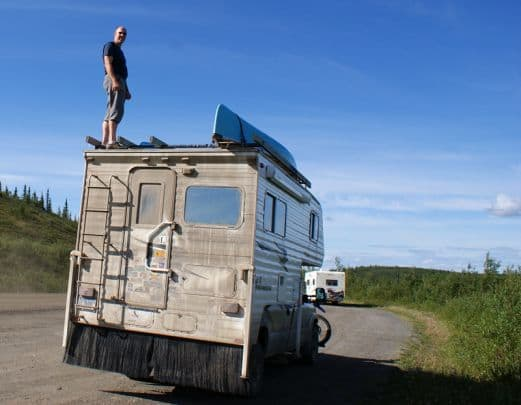 Boondocking-Canoes-Off-Top-Of-The-World-Hwy