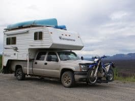 Boondocking-Faro-To-Dawson-City-motorbikes