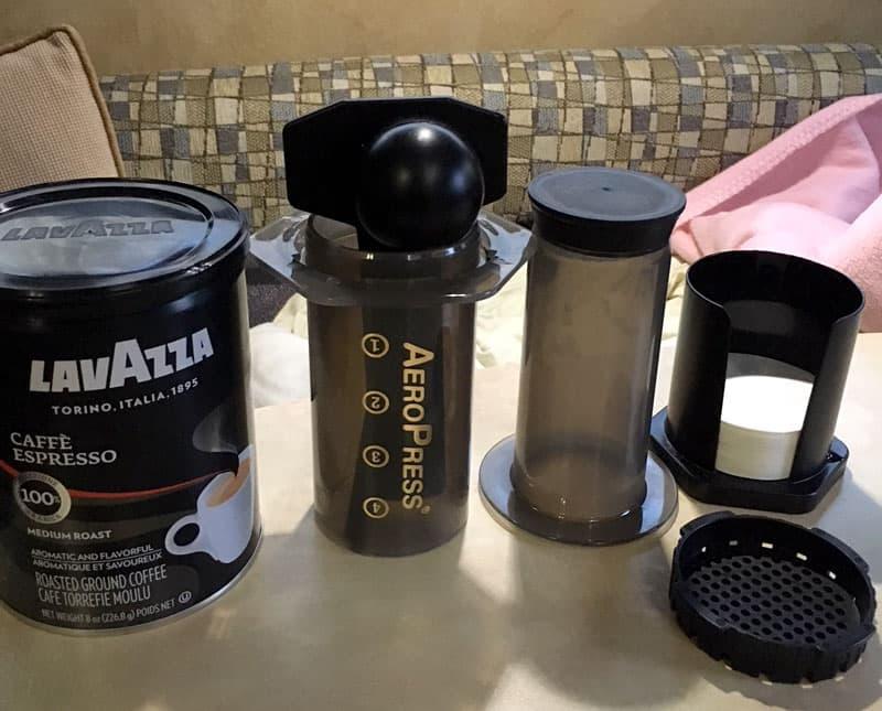 AeroPress Coffee With Lavazza Cafe Espresso