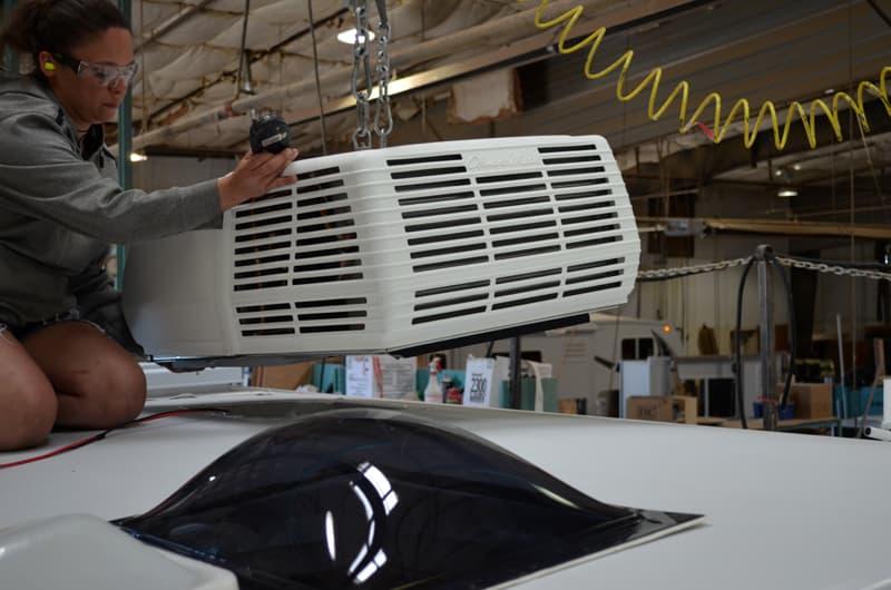Air Conditioner Installation Arctic Fox Camper