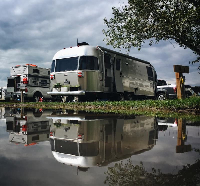 Airstream and Four Wheel Camper