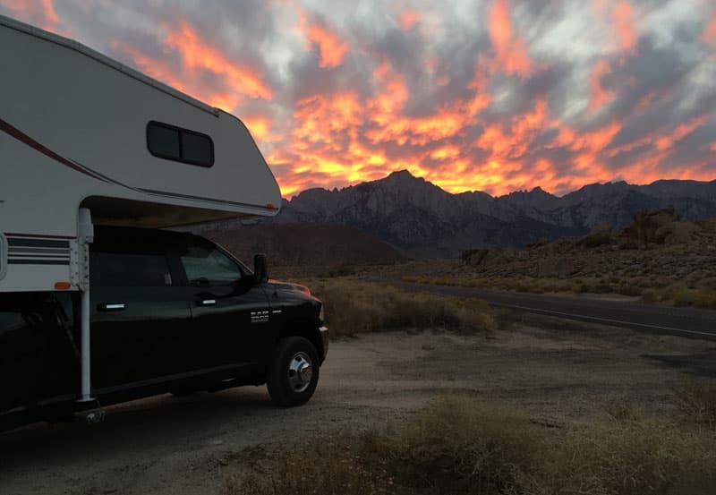 Alabama Hills Sunset California