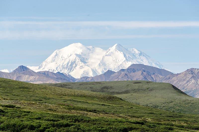 Denali in the distance, Alaska