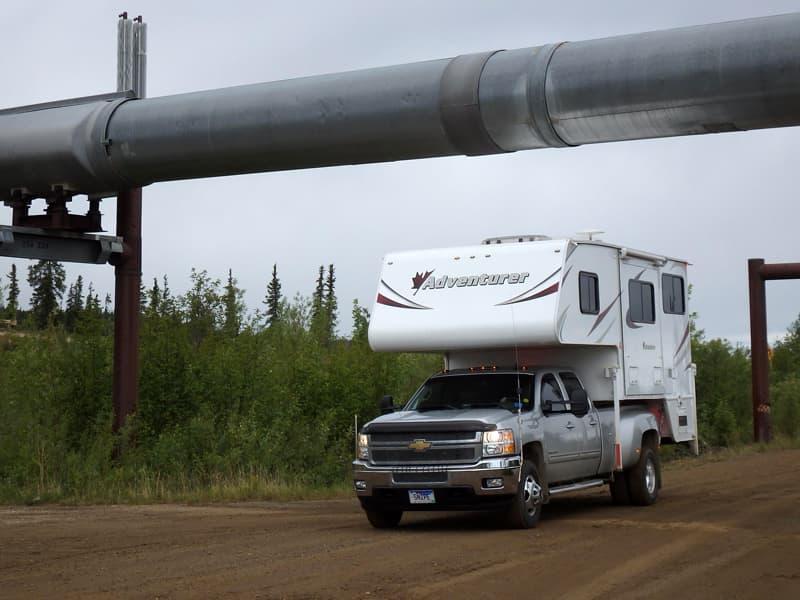 Alaska pipeline at Yukon River Crossing Alaska