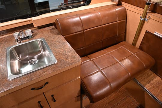 Alaskan Camper Review Dinette Seating