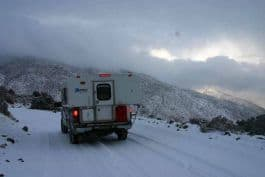 MacPherson-California-Snow on Saline Valley Road Over South Pass