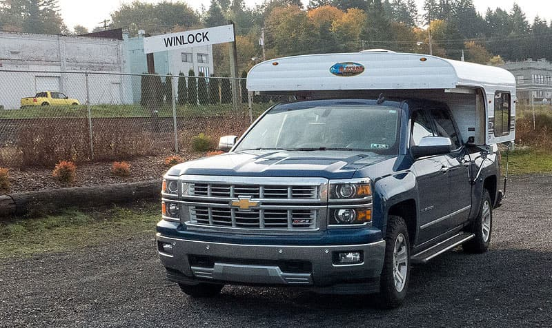 Alaskan Camper traveling in Winlock, Washington