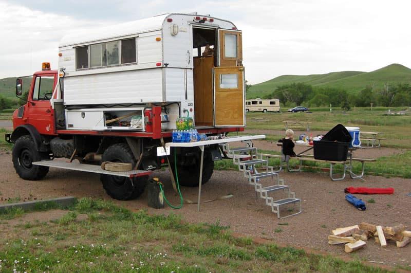 Alaskan Caboverless Camper On Unimog Truck