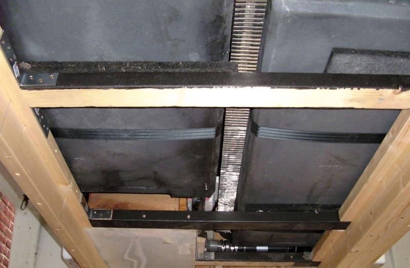 Alde convectors under floor by holding tanks