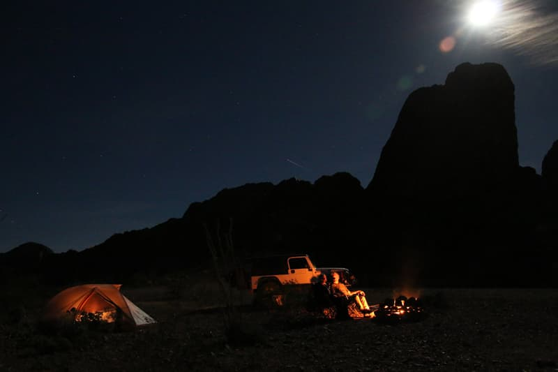 Arizona tent camping