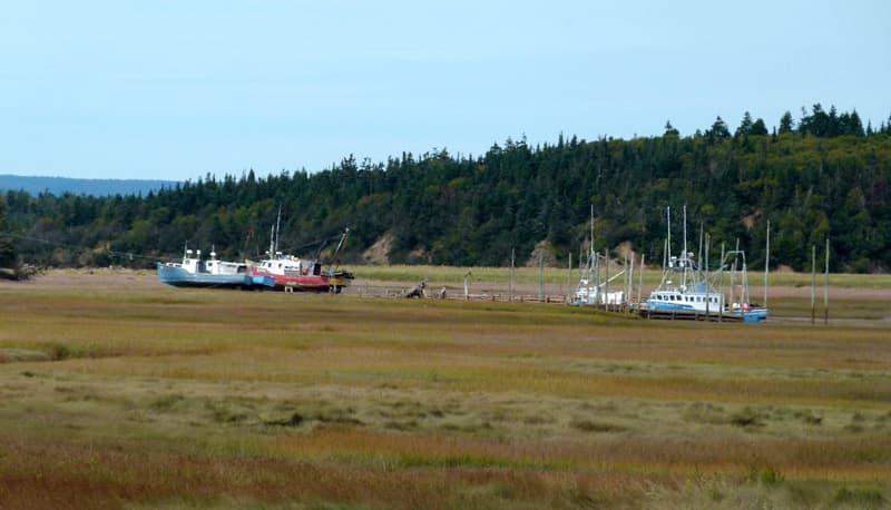 Alma, New Brunswick boats in water