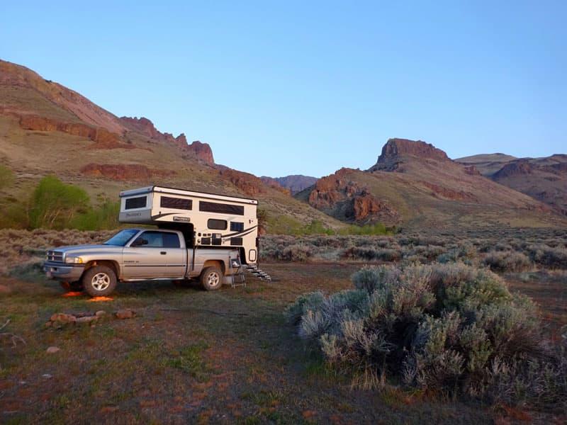 Camp overlooking the Alvord desert