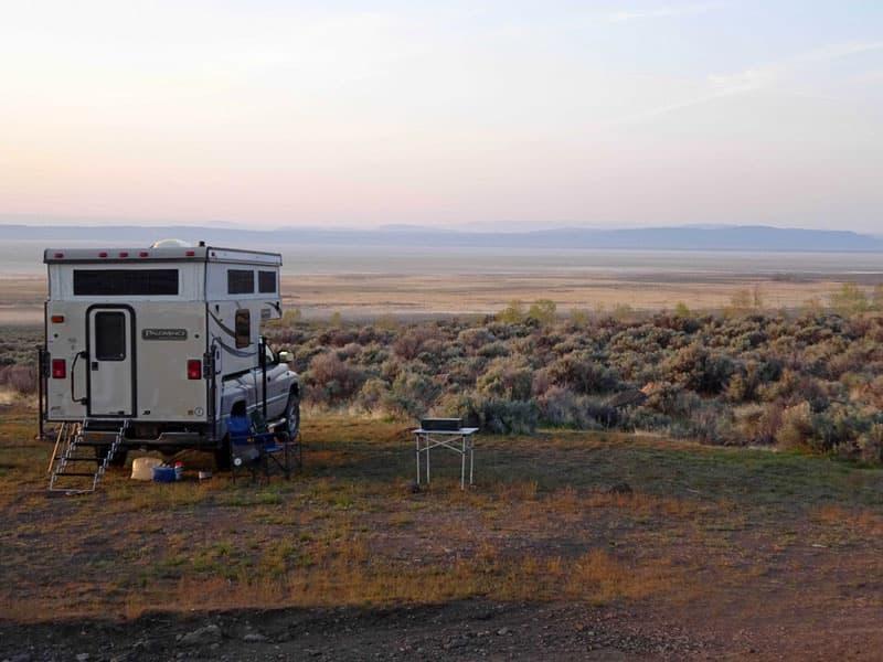 Camp overlooking the Alvord desert, Oregon