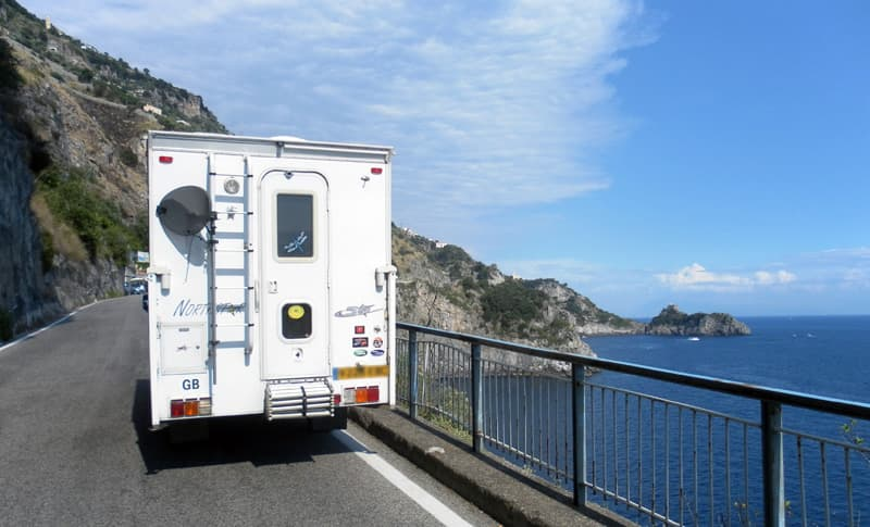Driving the Amalfi Coast, Italy
