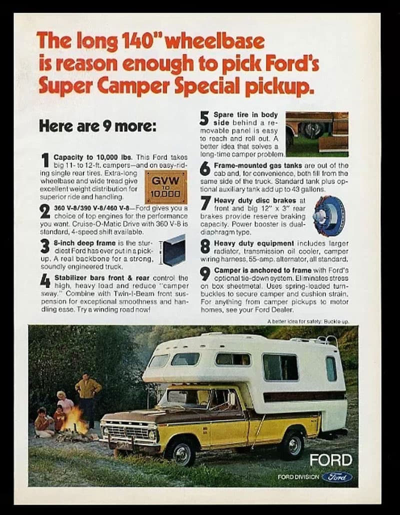 Ford truck advertisement 1973