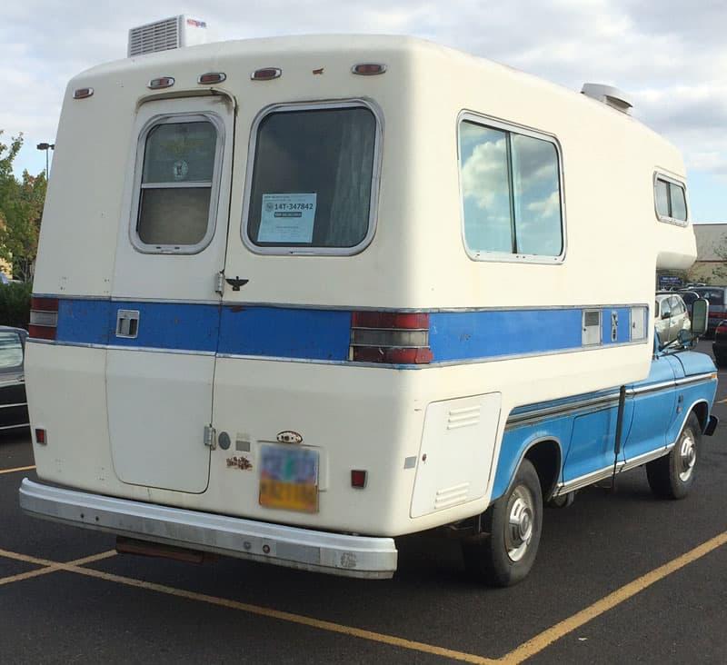 Blue American Road Camper