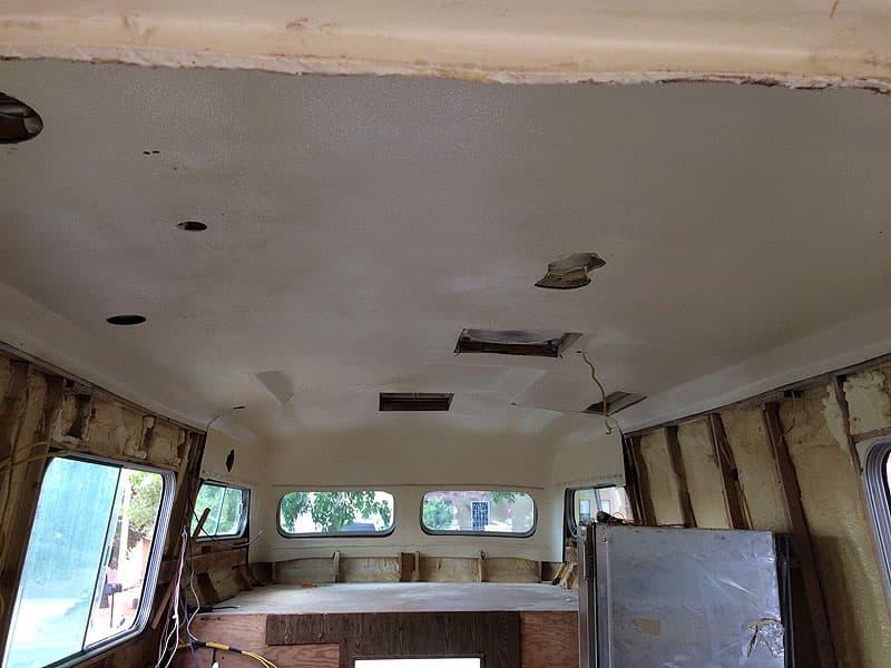 American Road Camper new ceiling headliner