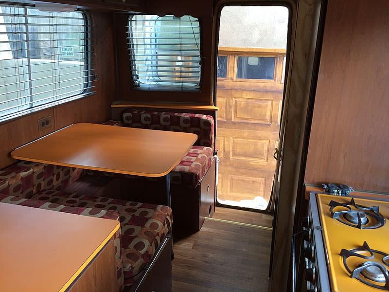 1973 American Road Camper restored dinette and floor