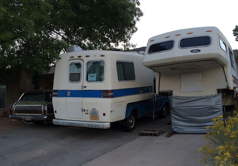 American Road campers in driveway