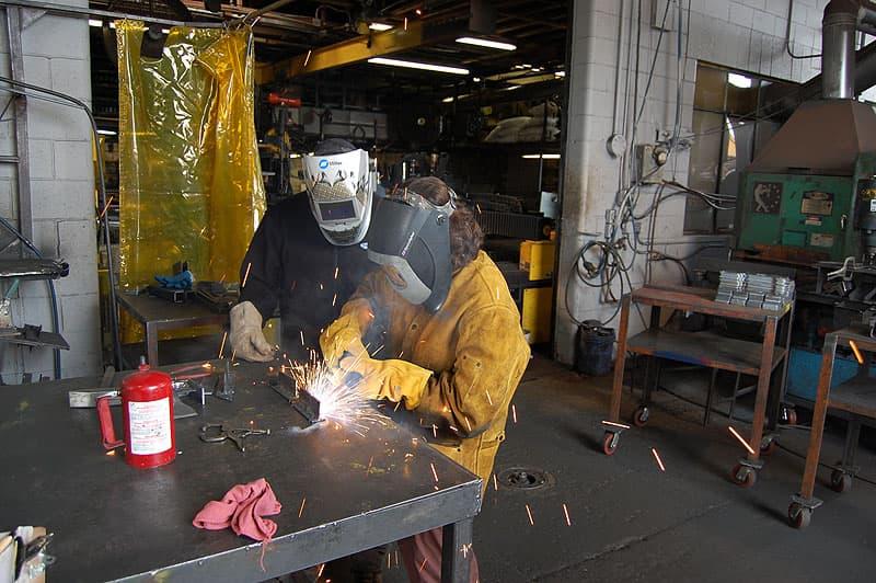 Angela welding at Torklift