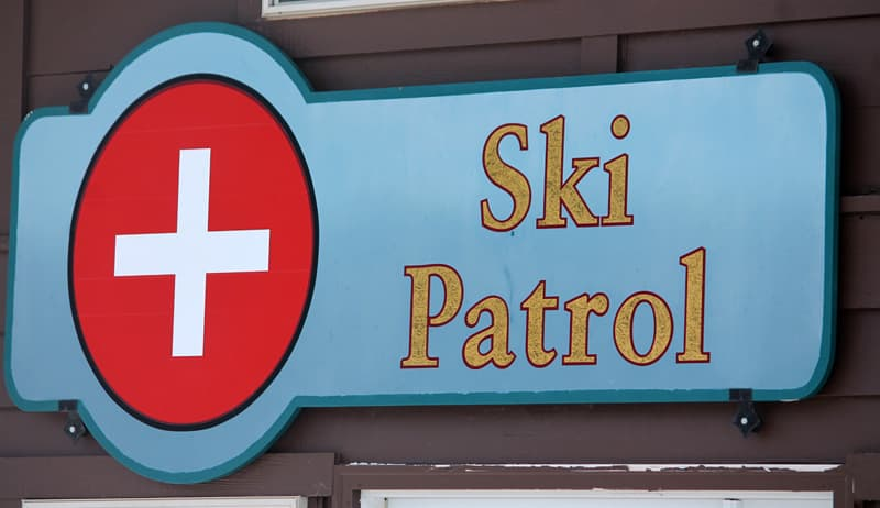 Anthony lakes ski patrol sign