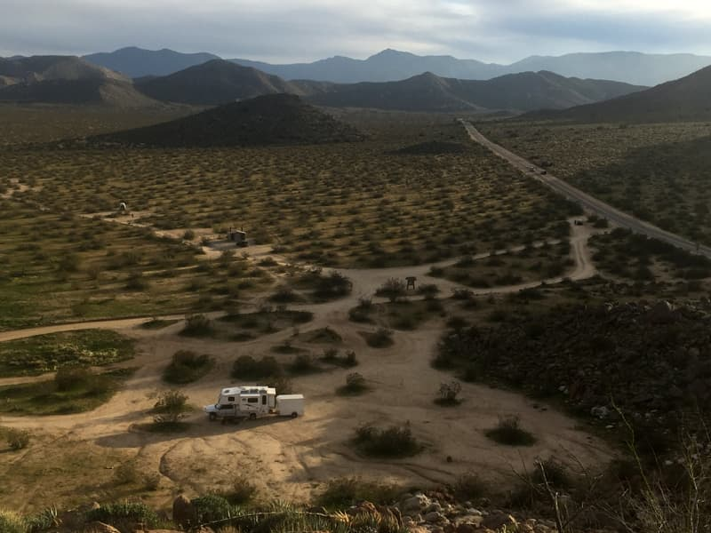 Dry Camping in Anza Borrego