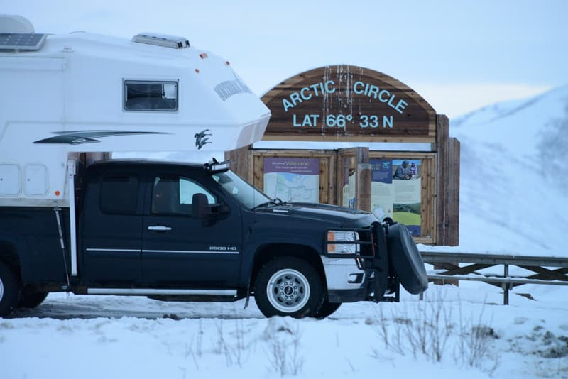 Arctic Circle on Dempster Highway