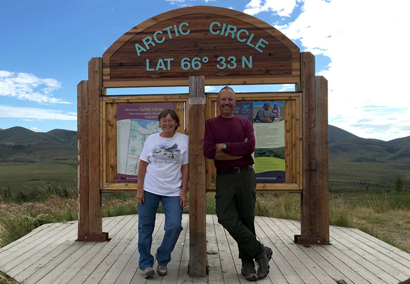 Arctic Dempster Highway Latitude 66 33N