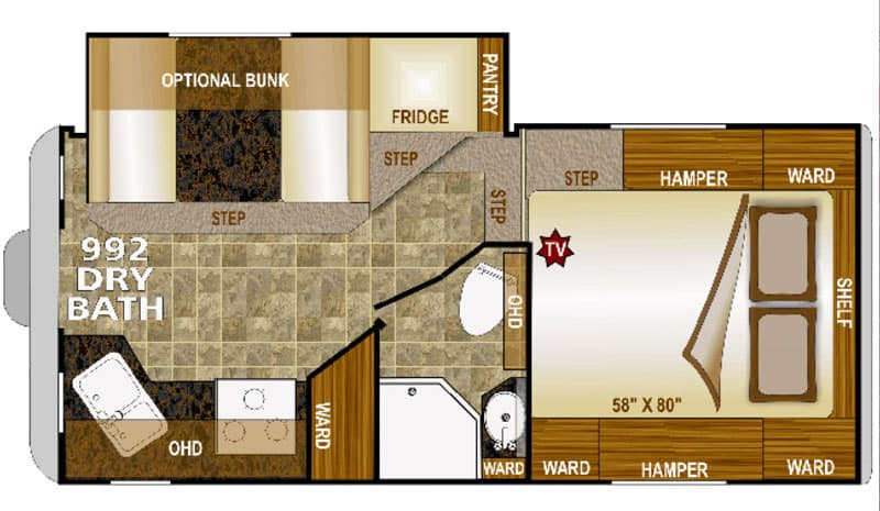 Arctic Fox 992 Review floor plan