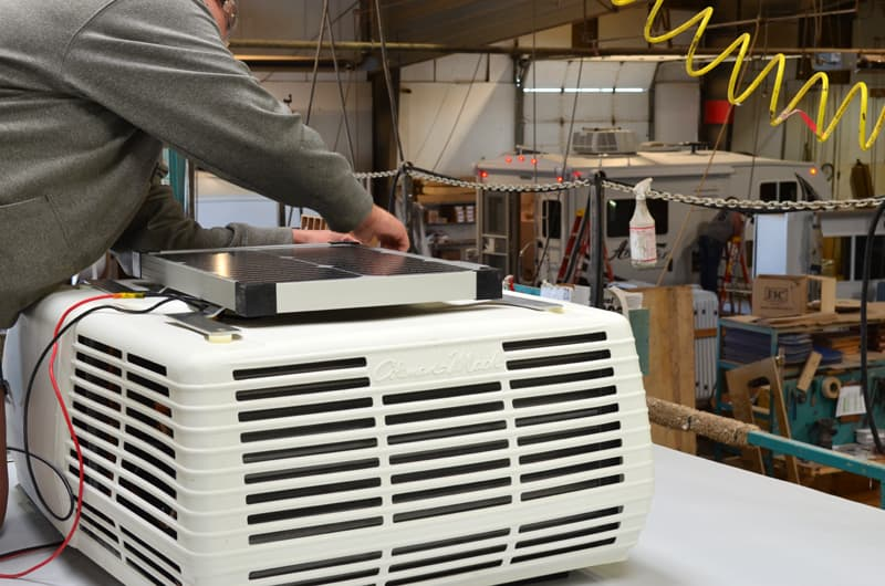 Arctic Fox Air Conditioner solar panel to trickle charger installation