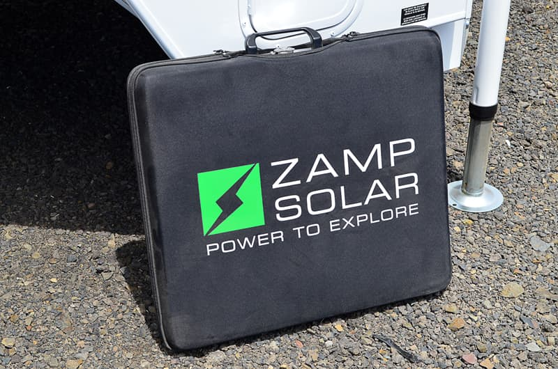 Arctic Fox Zamp portable solar panel suitcase