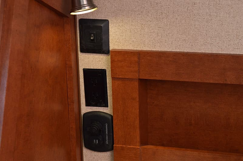 Charging centers are on both sides of the cabover