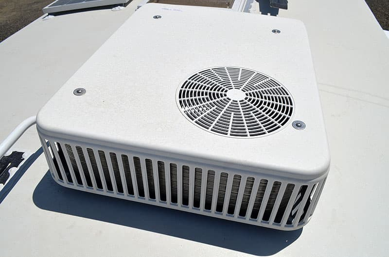 Air conditioner on Arctic Fox camper