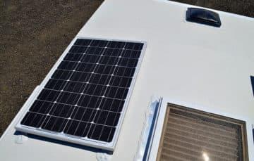 Arch roof solar panel installation