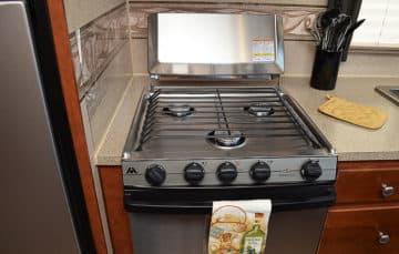 Arctic Fox stainless steel stove