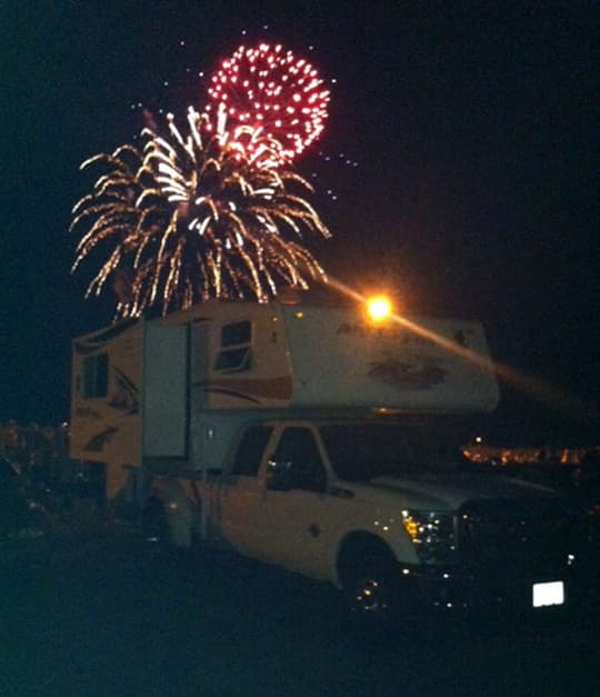beach-camping-fireworks