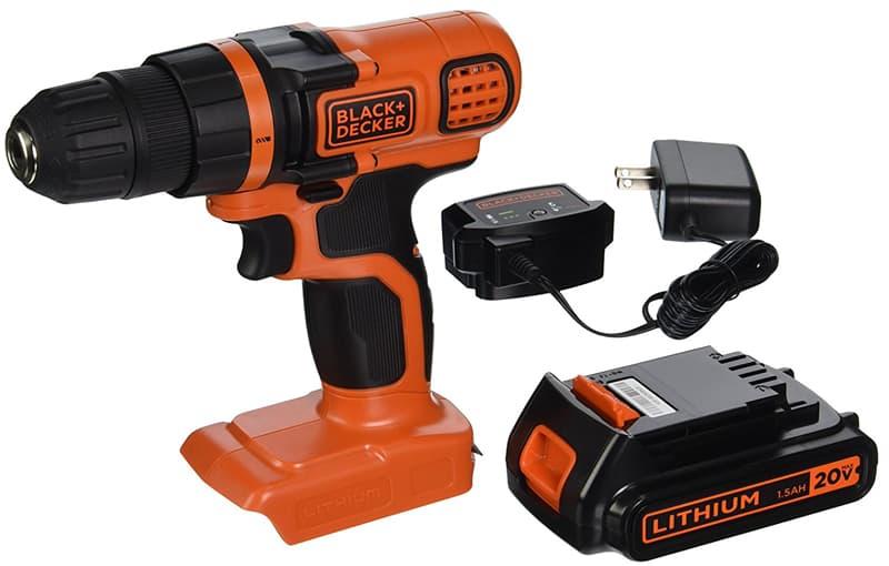 20-volt MAX Black and Decker power drill
