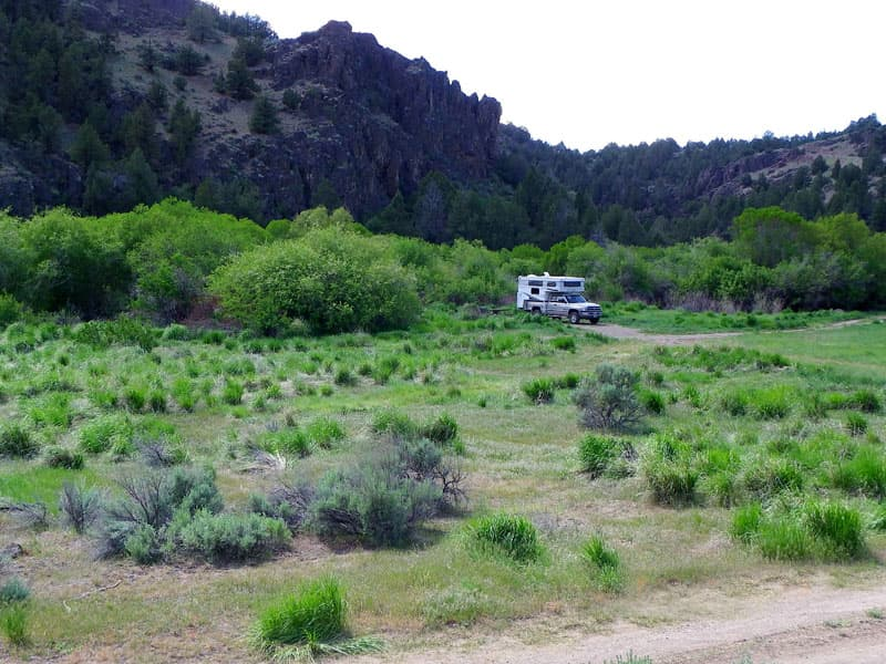 Northfork campground on Owhyee River, southern Idaho