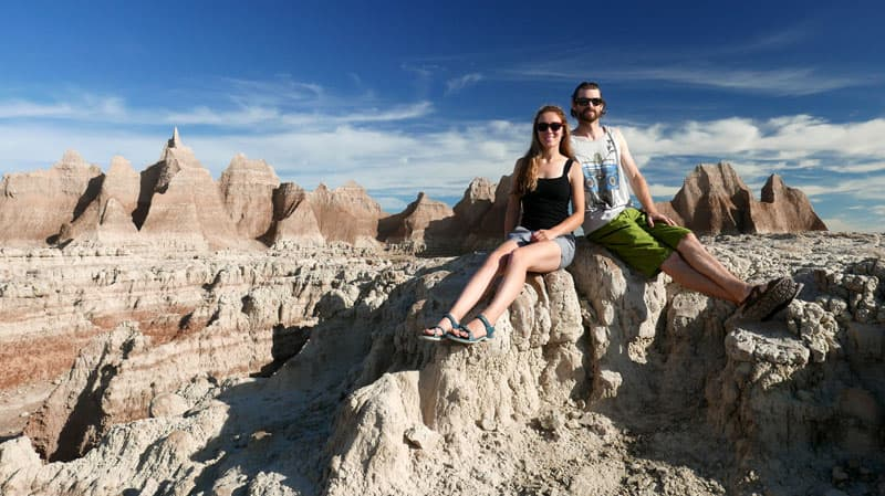 Badlands National Park, South Dakota, Johanna and Scott