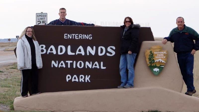 Badlands National Park Welcome Sign