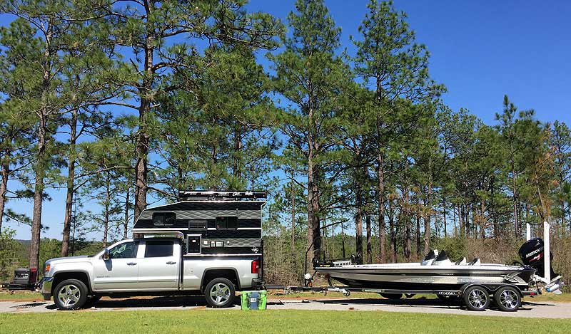 Bass-Fisherman-Camper-Boat