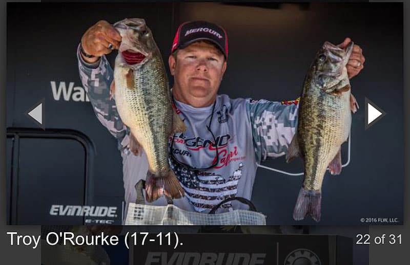 Tournament fishing Troy O'Rourke