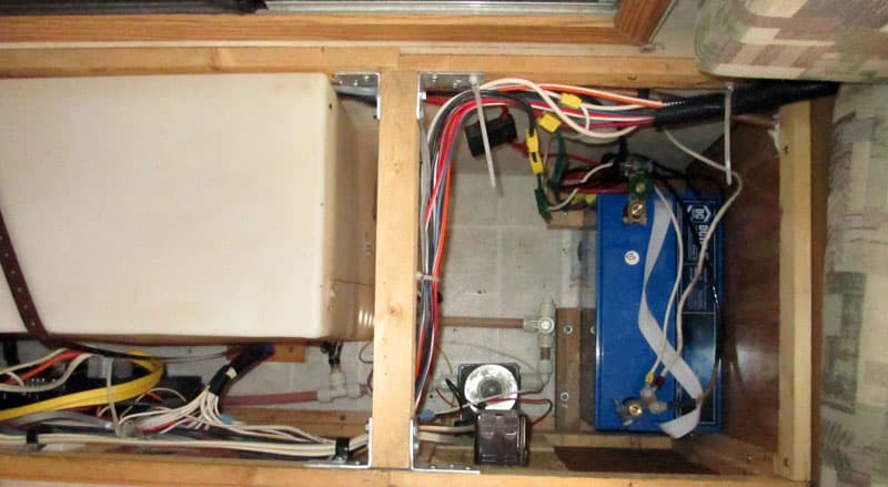 Battery Compartment with new power converter