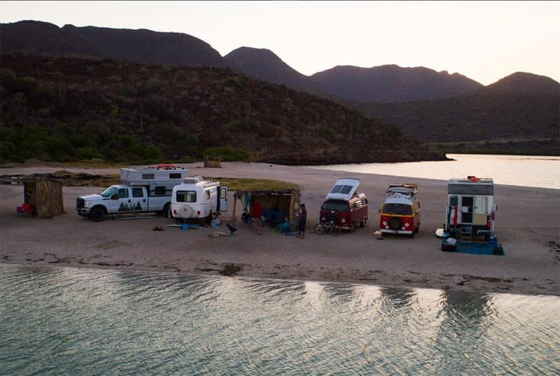 Beach Camping in Mexico with friends