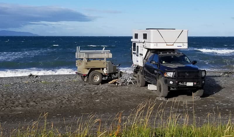 Beach Camping With Off Road Trailer