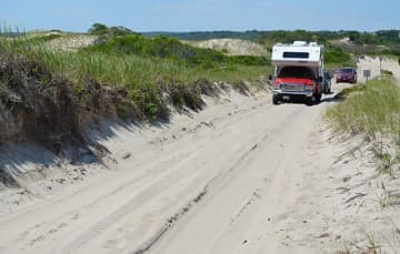 Sandy Neck Beach driving in the summer