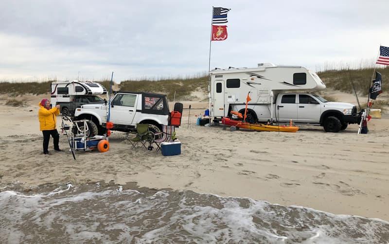 Beach Camping Lance Jeep